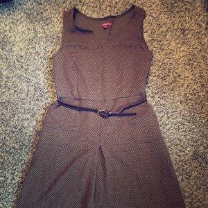 ✌️✌️Brown Professional Work Dress with Belt